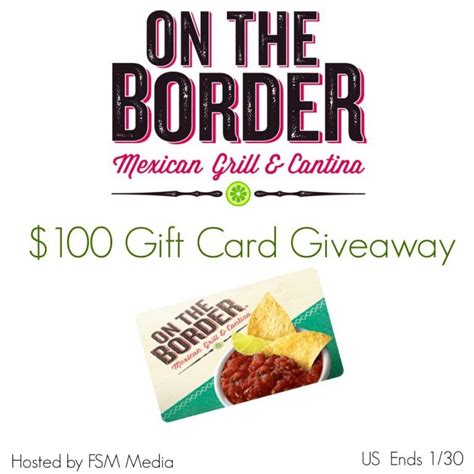$75 On The Border Mexican Grill Cantina Gift Card