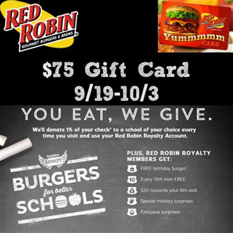 $75 Red Robin Gift Card