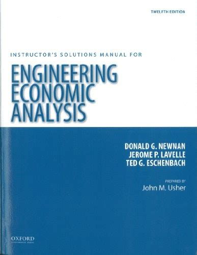 Instructors Solutions Manual For Engineering Economy