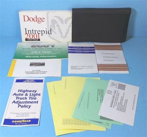 01 Dodge Intrepid Repair Manuals