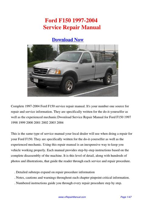 01 Ford F150 Owners Manual