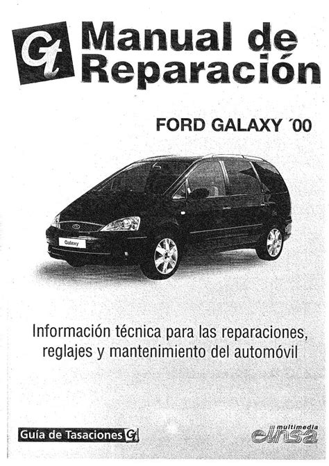 01 Ford Galaxy Workshop Manual