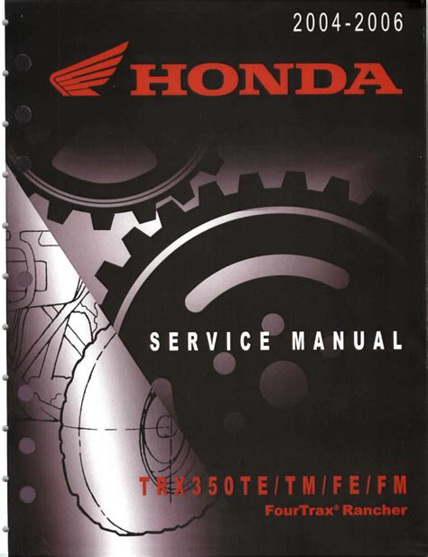 01 Honda 350 Rancher Es Repair Manual
