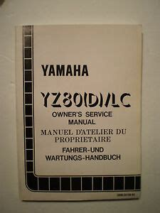 01 Yz80 Owners Manual