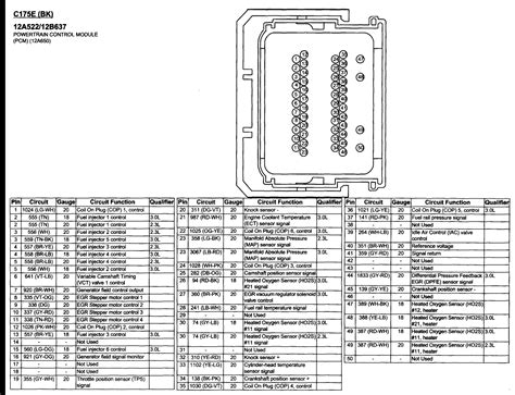 06 Ford Fusion Pcm Wiring Diagram