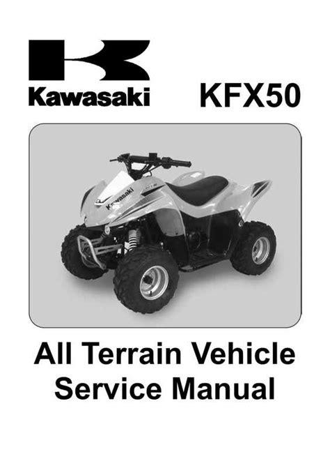 07 Kfx 50 Service Manual