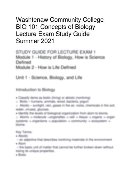 101 Study Guide Answer Key 234976