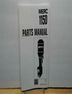 1150 Mercury Outboard 150 Hp Manual
