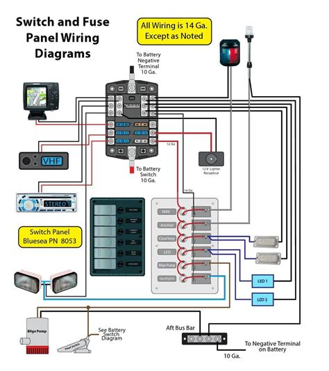 12 Volt Boat Wiring Diagram Schematic