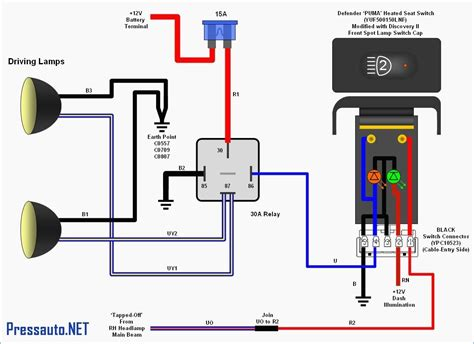 12 Volt Relay Wiring Diagram 5 Pole For Two Light