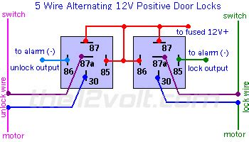 12 Volt Relay Wiring Diagram Door Locks