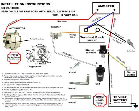 12 Volt Tractor Alternator Wiring Diagram