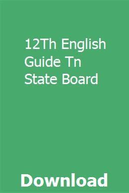 12th English Guide Tn State