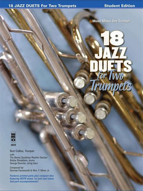 18 jazz duets for two trumpets music minus one trumpet student edition