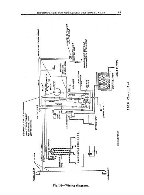 1928 Chevrolet Wiring Diagram
