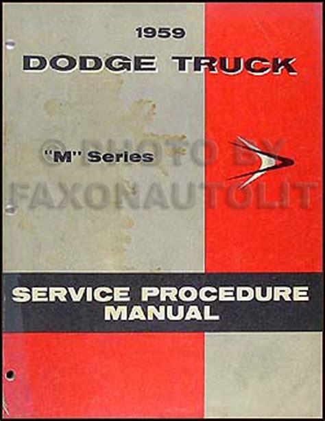 1959 Australian Dodge Truck Workshop Manual