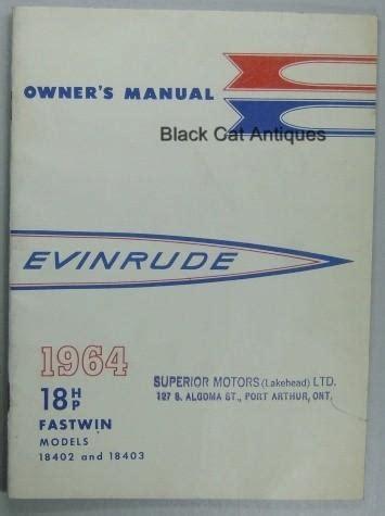 1960 Evinrude 18 Hp Fastwin Repair Manual