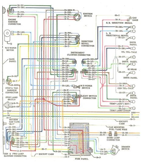 1964 Colored Wiring Diagram The 1947 Present Chevrolet Gmc Truck