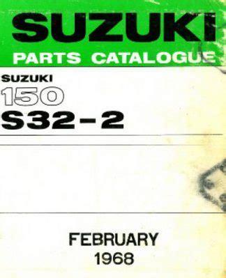1968 Suzuki 150 S32 2 Parts List Factory Parts Manual U Suz P 150 1968