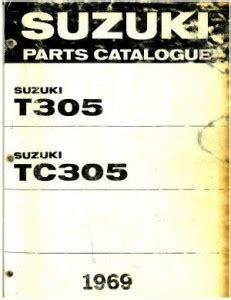 1969 Suzuki T305 1969 Suzuki Tc305 Parts List Parts Manual