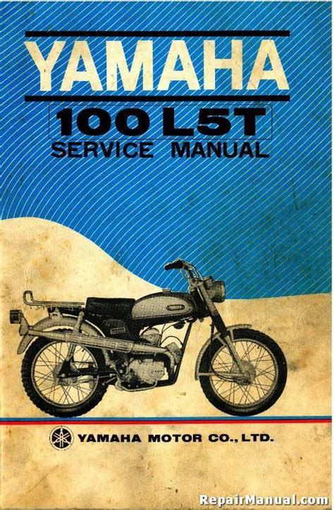 1969 Yamaha L5t Trailmaster 100 Motorcycle Factory Service Manual R Yam S 100l5t