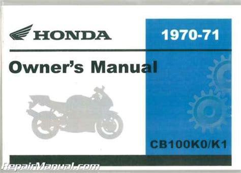 1970 1971 Honda Cb100k0 K1 Motorcycle Owners Manual