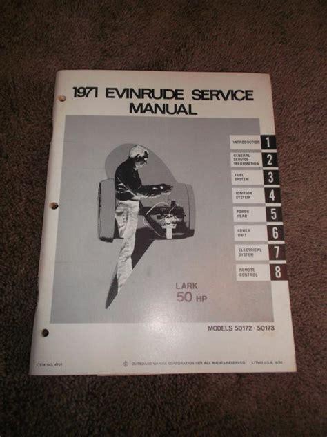 1971 Evinrude 50 Hp Shop Manual