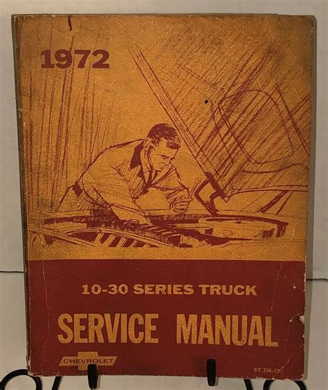1972 Chevrolet Truck Chassis Service Manual 10 To 30