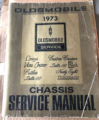 1973 Oldsmobile Chassis Service Manual U 1973 Olds