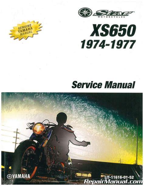 1974 1977 Yamaha Xs650 Factory Service Manual Lit 11616 01 52