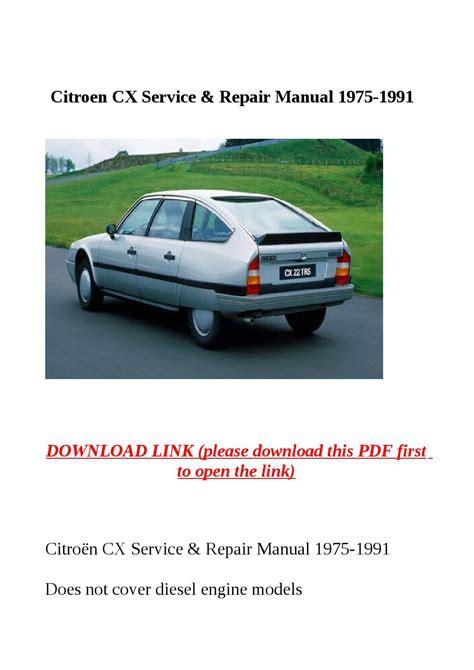 1974 1991 Citroen Cx Service And Repair Manual