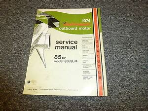 1974 Evinrude Johnson 25hp Outboard Factory Service Workshop Manual