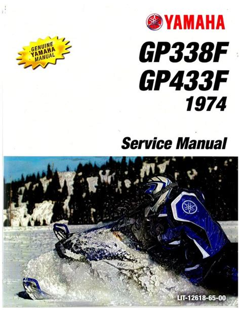 1974 Yamaha Gp338f And Gp433f Snowmobile Factory Service Manual Lit 12618 65 00