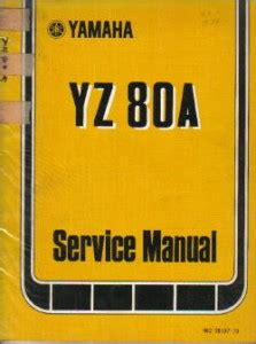 1974 Yamaha Yz80a Factory Service Manual Ulit 11614 62 00