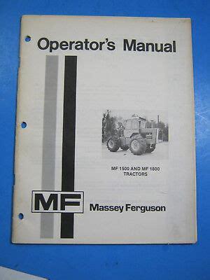 1975 Massey Ferguson Tractor Service Manual