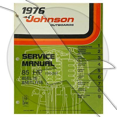 1976 Johnson Evinrude 85 Hp Outboard Factory Service Work Shop Manual
