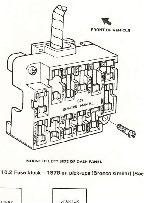 1978 Chevy Truck Fuse Diagram