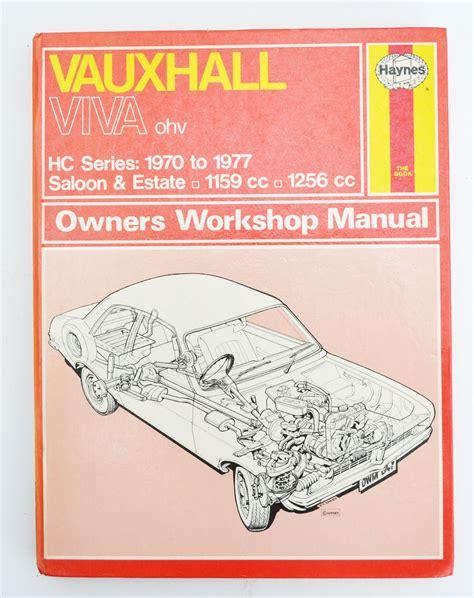 1978 Vauxhall Viva Owners Manual Buku Manua