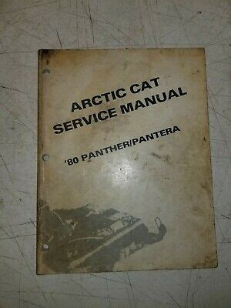1980 Arctic Cat Panther 5000 Factory Service Workshop Manual
