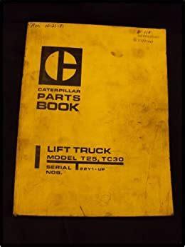 1980 Caterpillar Lift Truck Forklift Model T25 Tc30 Parts Book Manual
