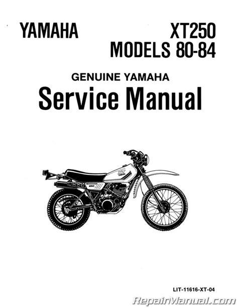 1980 Xt250 Manual