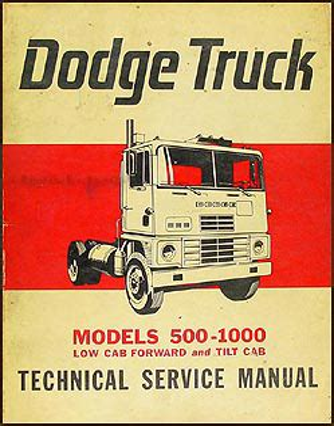1980s Low Cab Forward And Tilt Cab Dodge Trucks Models 500 1000 Service Repair Manual