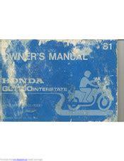 1981 Honda Goldwing Gl1100 Owner Manual