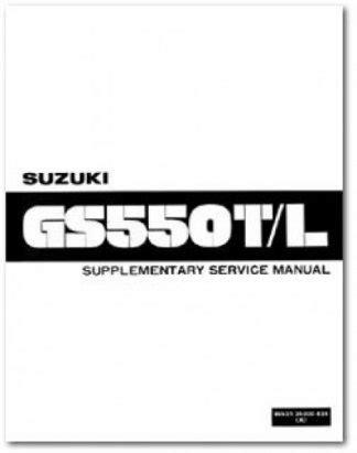1981 Suzuki Gs550tx Lx Lz Factory Service Manual Supplement Reprint 99501 35000 03e