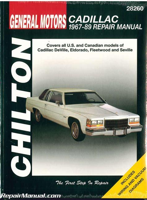 1982 Seville Repair Manual