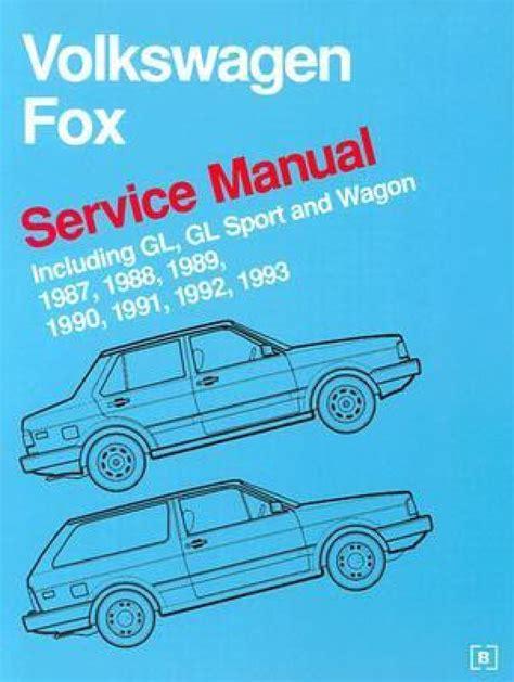 1983 Volkswagen Fox Service Manual