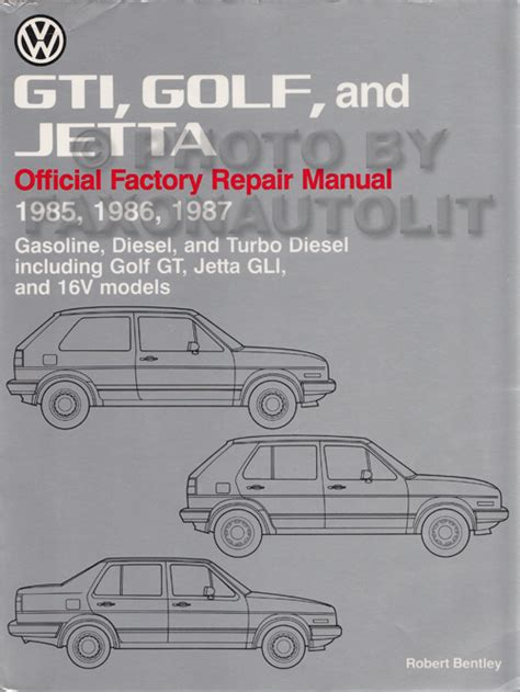 1985 1992 Vw Gti Golf And Jetta Bentley Repair Shop Manual