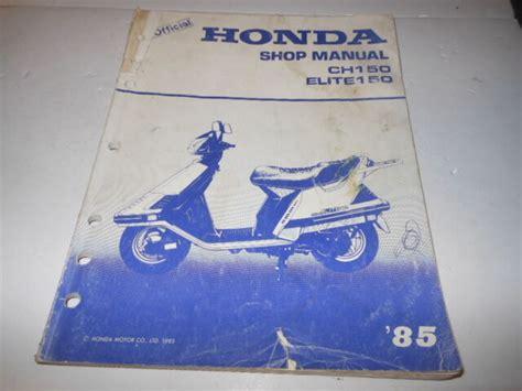 1985 Honda Elite Ch150 Manual