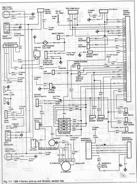 1986 Ford Bronco Wiring Diagrams