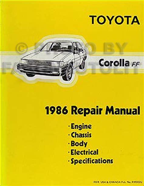 1986 Toyota Corolla Service Manual